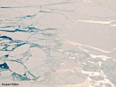 Ice shelfs on the Arctic Ocean